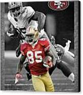 Vernon Davis 49ers Canvas Print by Joe Hamilton