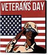 Veterans Day Greeting Card American Canvas Print by Aloysius Patrimonio