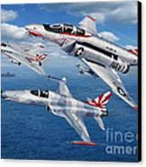 Vf-111 Sundowners Heritage Canvas Print by Stu Shepherd