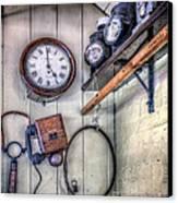 Victorian Train Memorabilia Canvas Print by Adrian Evans