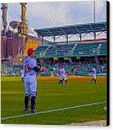 Victory Field Catcher 1 Canvas Print by David Haskett