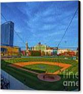 Victory Field Home Plate Canvas Print by David Haskett