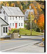 Vienna Maine In Fall Canvas Print by Keith Webber Jr