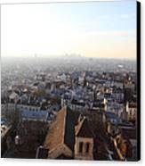 View From Basilica Of The Sacred Heart Of Paris - Sacre Coeur - Paris France - 011318 Canvas Print by DC Photographer