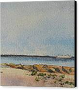 View Of Harkness Park From Seaside Waterford Ct Canvas Print by Patty Kay Hall
