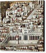 View Of The City De Damascus, Syrian Canvas Print by Everett