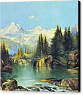 View Of The Rocky Mountains Canvas Print by Susan Leggett