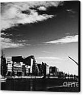 View Of The Samuel Beckett Bridge Over The River Liffey And The Convention Centre Dublin Republic Of Canvas Print by Joe Fox