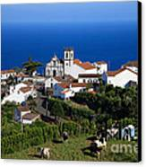 Village In Azores Islands Canvas Print by Gaspar Avila