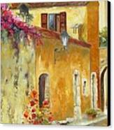 Village In Provence Canvas Print by Chris Brandley