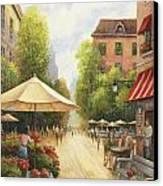 Village Scene Canvas Print by John Zaccheo