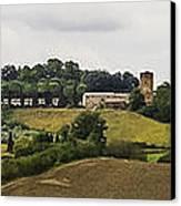 Ville Di Corsano Near Siena - Tuscany Italy Canvas Print by Karen Stephenson