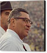 Vince Lombardi Coaching Canvas Print by Retro Images Archive
