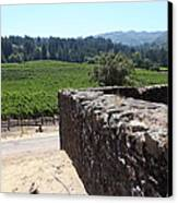Vineyard And Winery Ruins At Historic Jack London Ranch In Glen Ellen Sonoma California 5d24537 Canvas Print by Wingsdomain Art and Photography
