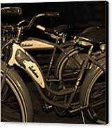 Vintage 1941 Boys And 1946 Girls Bicycle 5d25760 Sepia1 Canvas Print by Wingsdomain Art and Photography