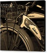 Vintage 1941 Boys And 1946 Girls Bicycle 5d25760 Vertical Sepia1 Canvas Print by Wingsdomain Art and Photography