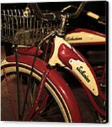 Vintage 1941 Boys And 1946 Girls Bicycle 5d25760 Vertical Sepia2 Canvas Print by Wingsdomain Art and Photography