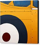 Vintage Airplane Abstract Design Canvas Print by Carol Leigh
