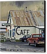 Vintage Alaska Cafe Canvas Print by Ron Day