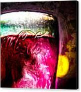 Vintage Coca Cola Glass With Ice Canvas Print by Bob Orsillo