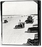 Vintage Daytona Beach Florida Canvas Print by Edward Fielding