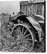 Vintage Farm Tractor Canvas Print by Theresa Tahara