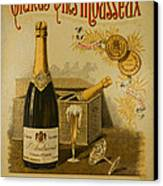 Vintage French Poster Andrieux Wine Canvas Print by Olivier Le Queinec