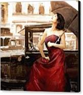 Vintage Lady Canvas Print by Robert Smith