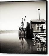 Vintage Lbi Bay Canvas Print by John Rizzuto