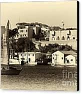 Vintage Marseille Sailing Canvas Print by John Rizzuto