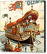 Vintage Nostalgic Poster - 8050 Canvas Print by Wingsdomain Art and Photography