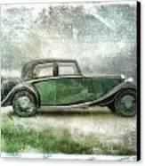 Vintage Rolls Royce Canvas Print by David Ridley