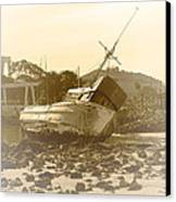 Vintage Shipwreck  Canvas Print by Artist and Photographer Laura Wrede