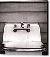 Vintage Sink Canvas Print by Olivier Le Queinec