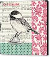 Vintage Songbird 3 Canvas Print by Debbie DeWitt