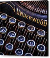 Vintage Typewriter 2 Canvas Print by Scott Norris