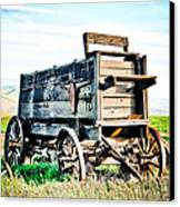 Vintaged Covered Wagon Canvas Print by Athena Mckinzie