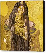 Virgin Mary With Baby Jesus Mosaic Canvas Print by Artur Bogacki