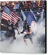 Virginia Cavaliers Football Team Entrance Canvas Print by Jason O Watson