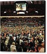 Virginia Fans Storm Court At John Paul Jones Arena Canvas Print by Replay Photos