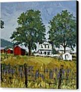 Virginia Highlands Farm Canvas Print by Peter Muzyka