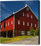 Virginia Red Barn Canvas Print by Guy Shultz