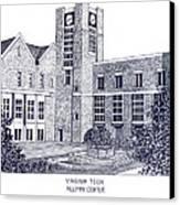 Virginia Tech Canvas Print by Frederic Kohli