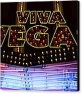 Viva Vegas Neon Canvas Print by Bob Christopher