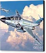 Voodoo In The Clouds - F-101b Voodoo Canvas Print by Stu Shepherd