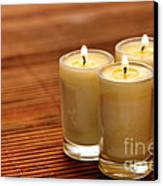 Votive Candle Burning Canvas Print by Olivier Le Queinec