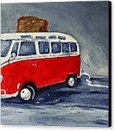Vw Bus Toaster Canvas Print by Sunny Avocado