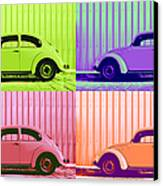 Vw Pop Spring Canvas Print by Laura Fasulo