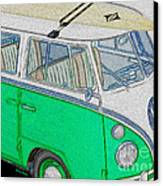 Vw Surf Bus Canvas Print by Cheryl Young