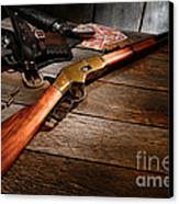 Waiting For The Gunfight Canvas Print by Olivier Le Queinec